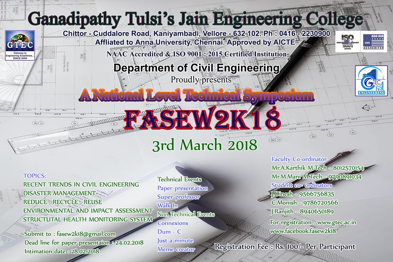 Gtec ganadipathy tulsis jain engineering college national level technical symposium fasew 2k18 aiddatafo Choice Image