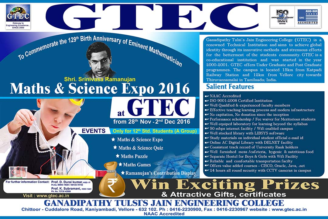 Maths Science Project Expo 2016